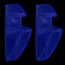 ΣΤΗΡΙΓΜΑΤΑ ΡΑΦΙΟΥ CLIP 19mm (ΖΕΥΓΟΣ) ΔΙΑΦΑΝΑ ΜΠΛΕ
